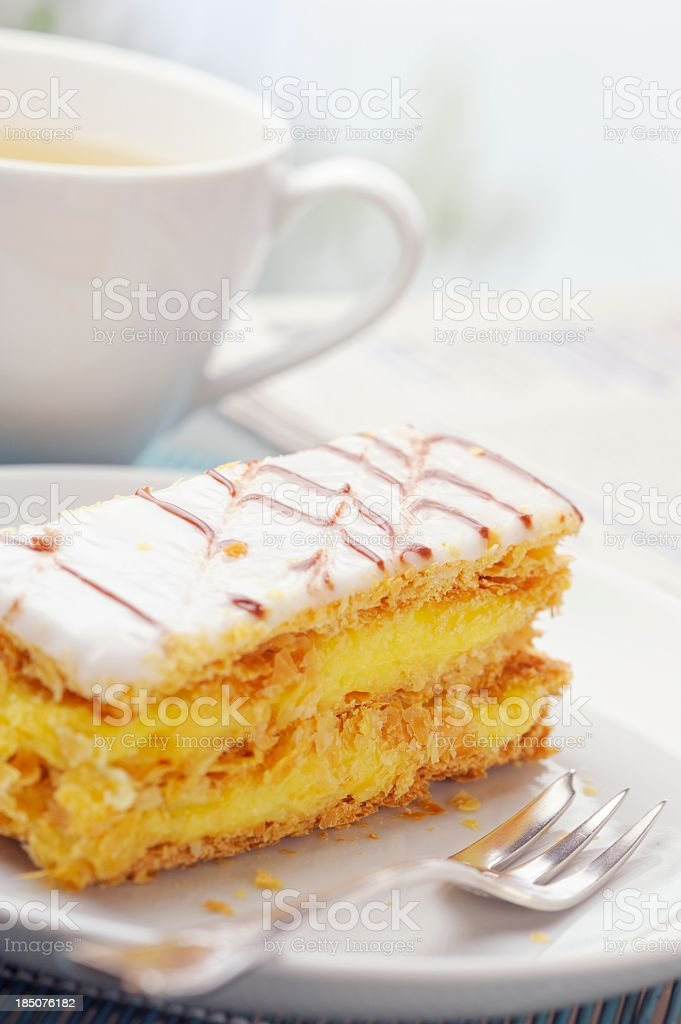 Mille Feuille French Pastry stock photo