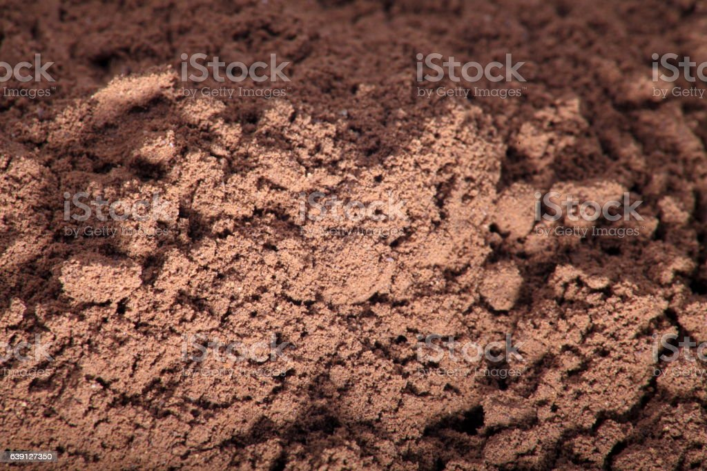 milled coffee stock photo