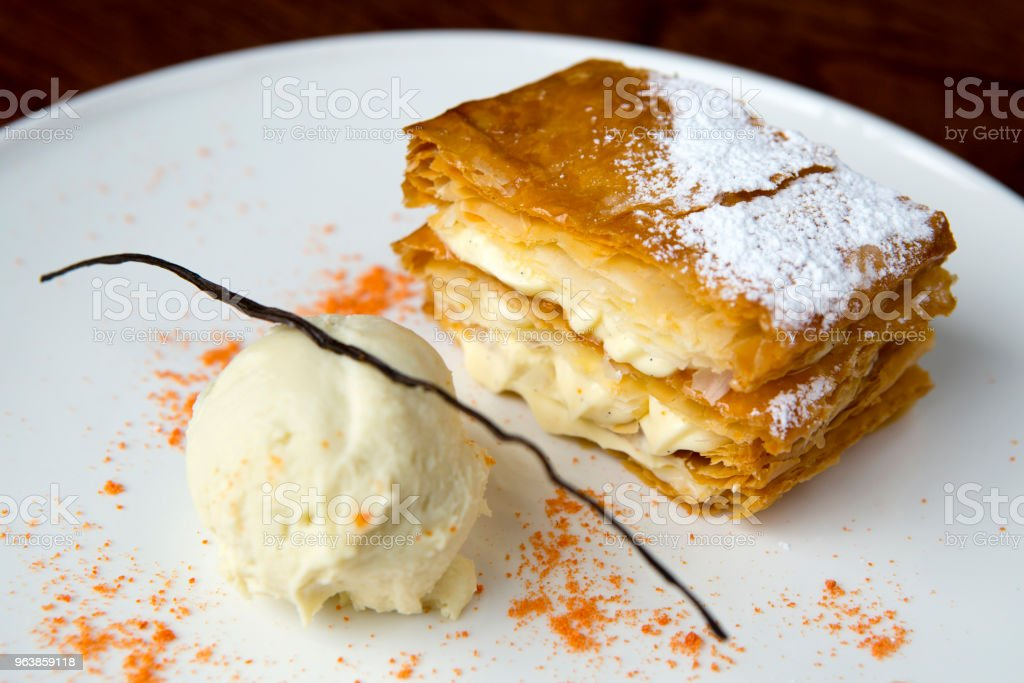 Mille-Feuille Puff Pastry Dessert - Royalty-free Baked Stock Photo