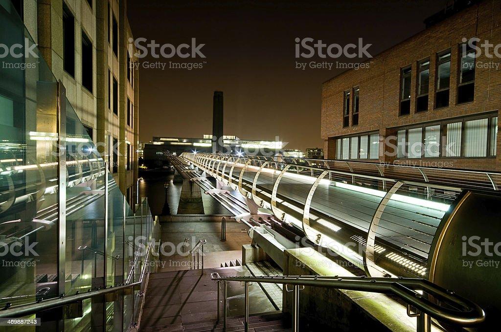 Millenium Bridge and Tate Gallery stock photo