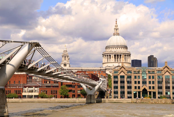 Millenium Bridge, London stock photo