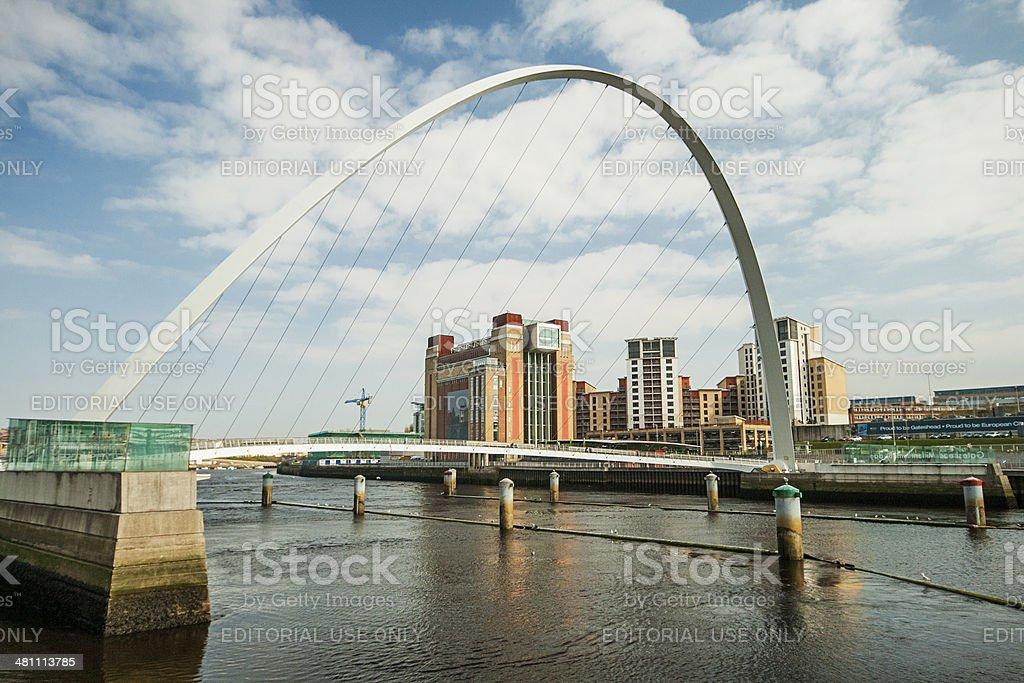 Millenium Bridge Over The River Tyne, Newcastle stock photo