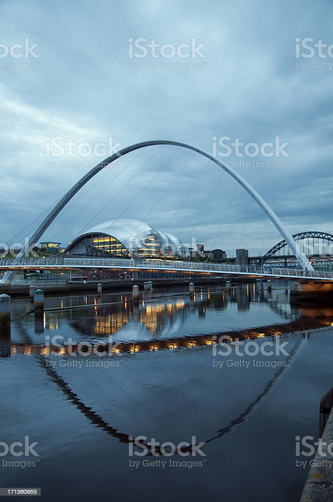 Millenium Bridge stock photo