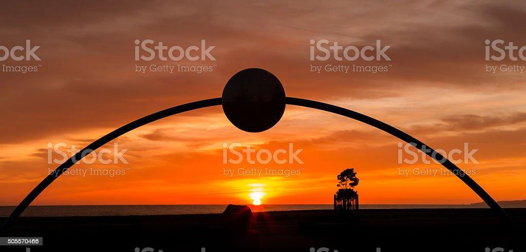 Millennial Arch Sunrise Napier stock photo