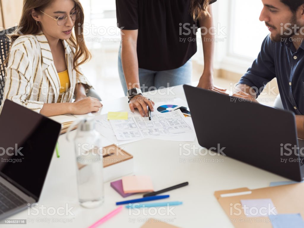 Millennial business group of people stock photo
