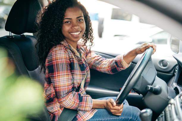 Millennial Driver stock photo