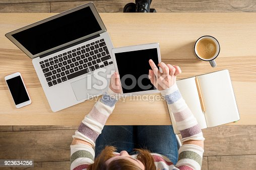 684006316istockphoto Millennial generation woman studying on desk 923634256