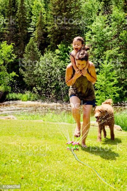 Millennial mother enjoying springkling water with baby daughter picture id810940298?b=1&k=6&m=810940298&s=612x612&h=u4guams8burid7maahdxcksccfcut2hhtkejhej3pg8=