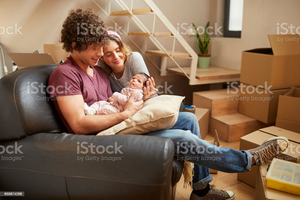 Padres milenarios - foto de stock