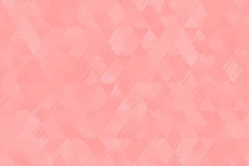 Millennial Pink Pale Diamond Triangle Seamless Pattern Pretty Summer Pastel Coral Peachy Rhomb Distorted Geometric Texture Minimal Background Color Image Computer Graphic Fractal Fine Art