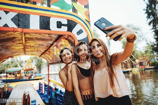 istock Millennial women in Mexico enjoying day in Xochimilco Gardens 1167973256