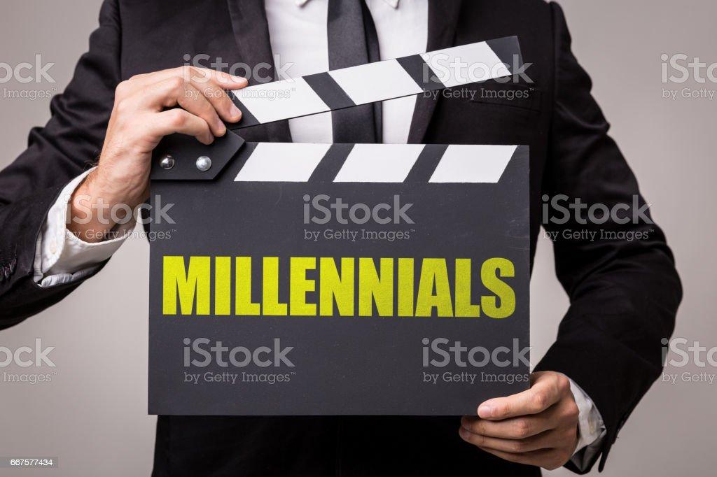 Millennials stock photo