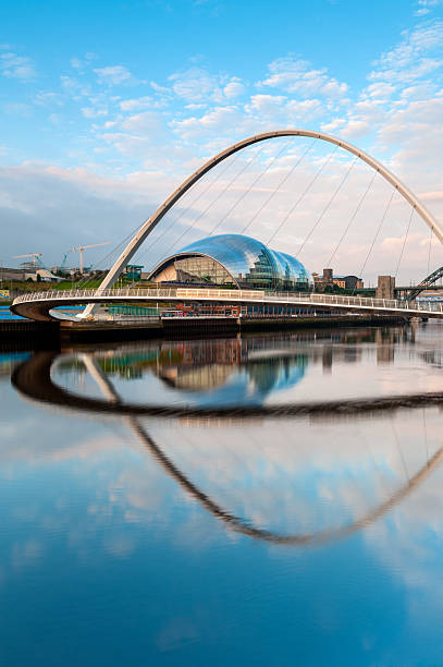millennium bridge, gateshead, newcastle-upon-tyne - gateshead stock photos and pictures