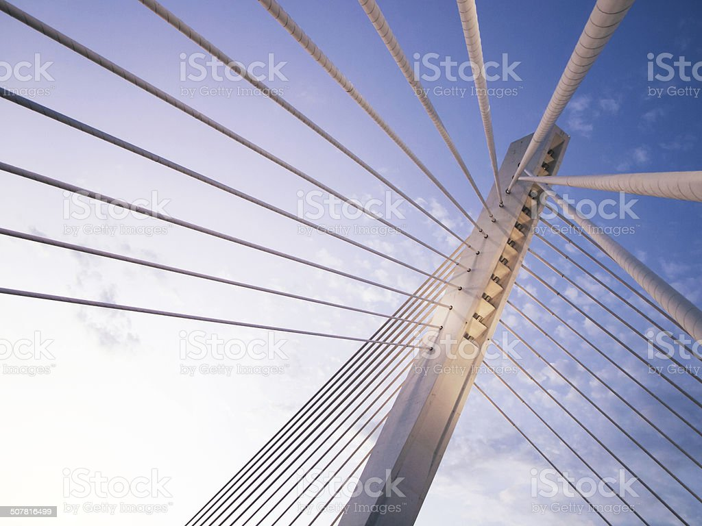 Millennium bridge in Podgorica, Montenegro stock photo