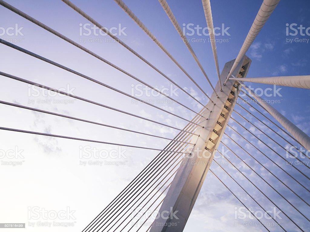 Puente del milenio en Podgorica, Montenegro - foto de stock