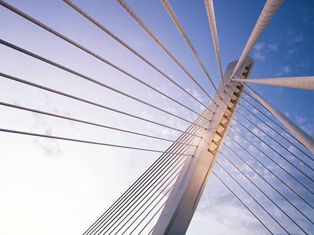 Millennium bridge in Podgorica, Montenegro stock photo