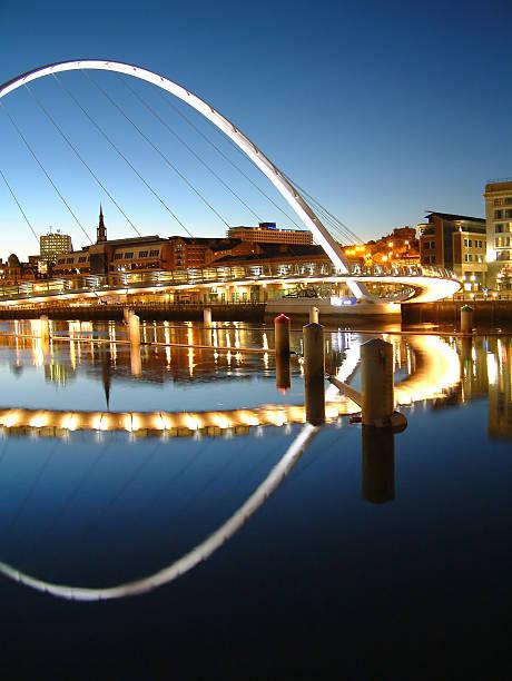 Millennium Bridge Reflections 1 stock photo