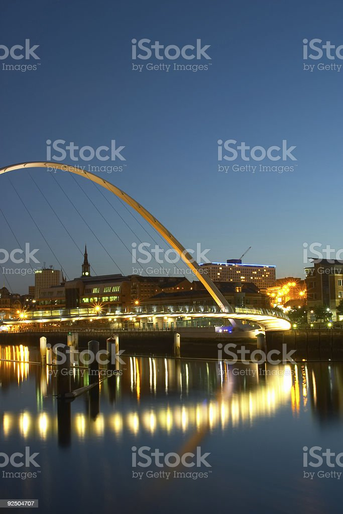 Millennium Bridge Reflections 4 royalty-free stock photo