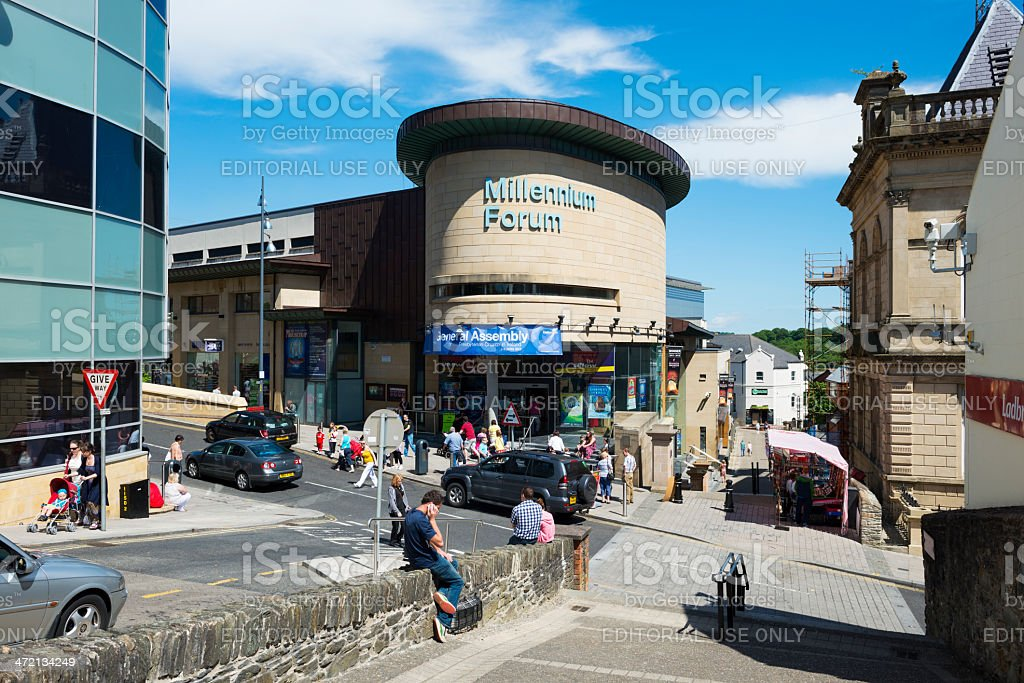 Millennium Forum in central Derry, Northern Ireland stock photo