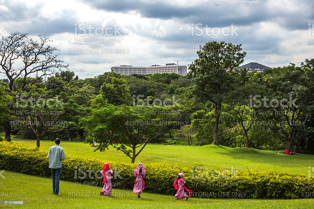 Millennium Park. Abuja, Nigeria. stock photo
