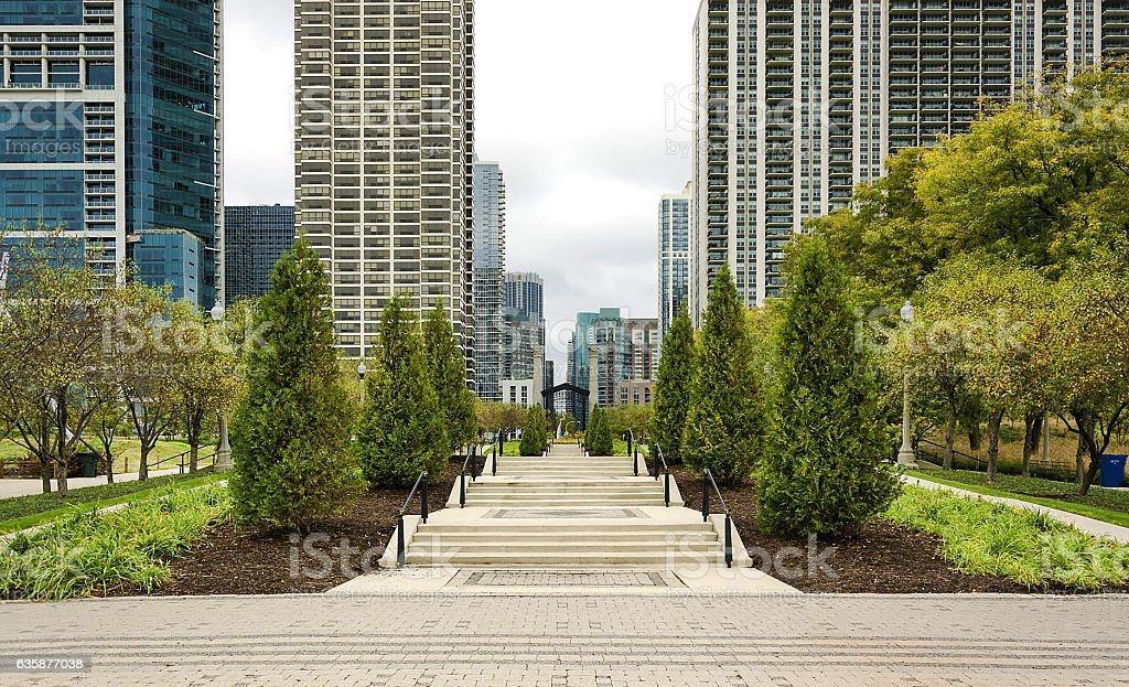 Millennium Park, Chicago stock photo
