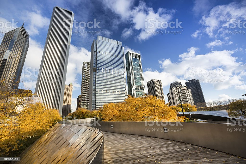Millennium Park walkway Chicago royalty-free stock photo