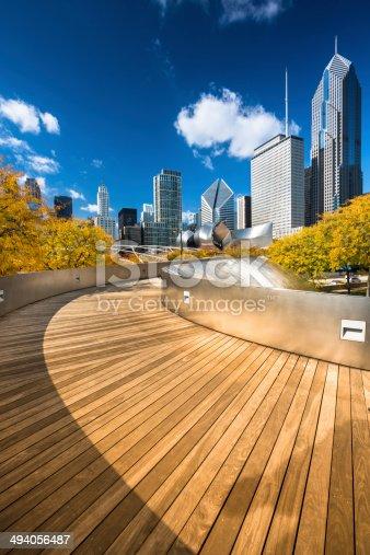 BP Pedestrian Bridge, The Loop, Grant Park, Millennium Park, Chicago, Illinois, USA