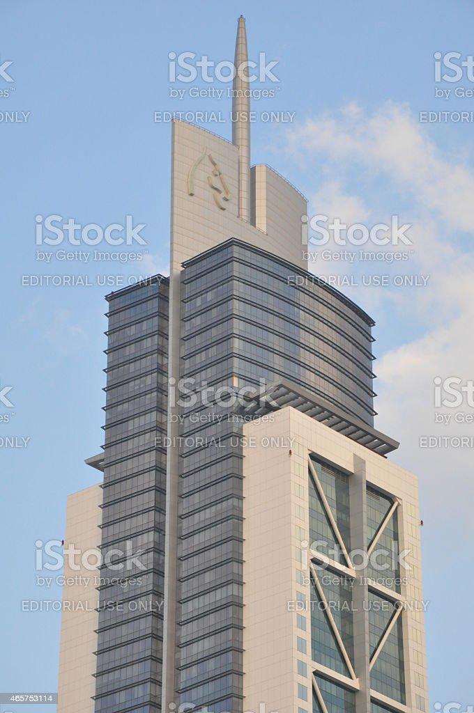Millennium Tower on Sheikh Zayed Road in Dubai, UAE stock photo