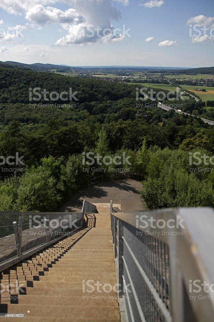 Millennium View in Steinbergen stock photo