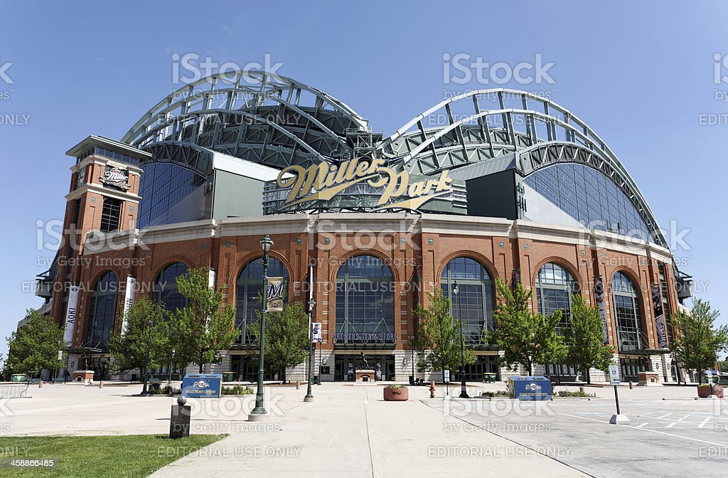 Miller Park Milwaukee, Wisconsin, USA aa June 3, 2013: Miller Park in Milwaukee, Wisconsin. Miller Park is a MLB ballpark and home to the Milwaukee Brewers. Baseball - Sport Stock Photo