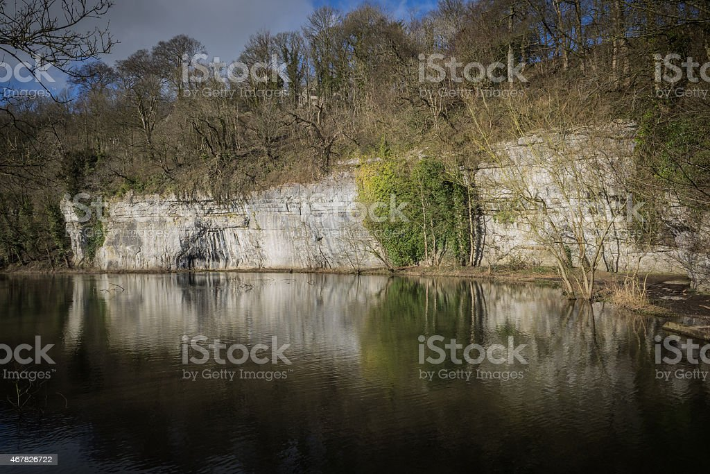 MIllers Dale, Derbyshire stock photo