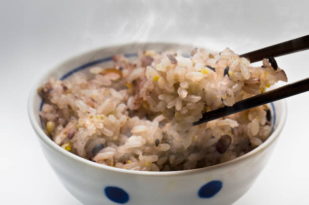 Millet meal stock photo