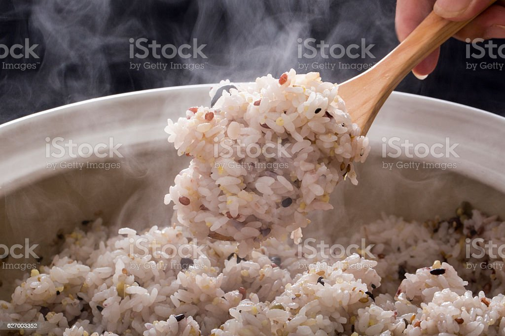 Millet rice stock photo