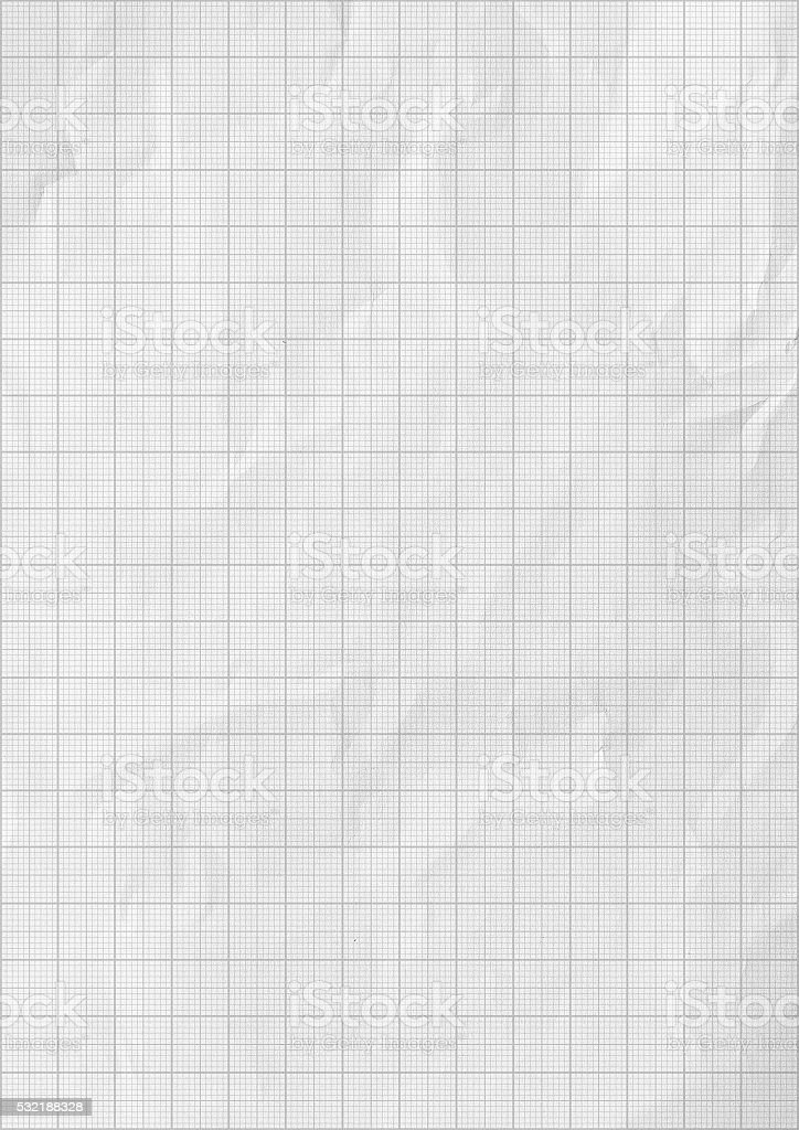 Millimeter graph white paper background stock photo