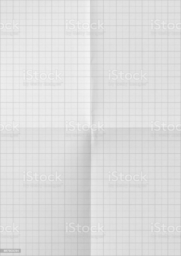 Millimeter graph white paper background – zdjęcie