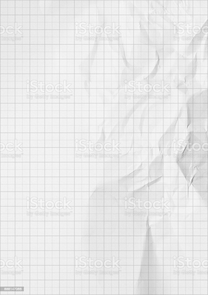 Millimeter graph white paper background stock photo