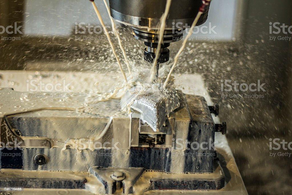 CNC milling at work royaltyfri bildbanksbilder