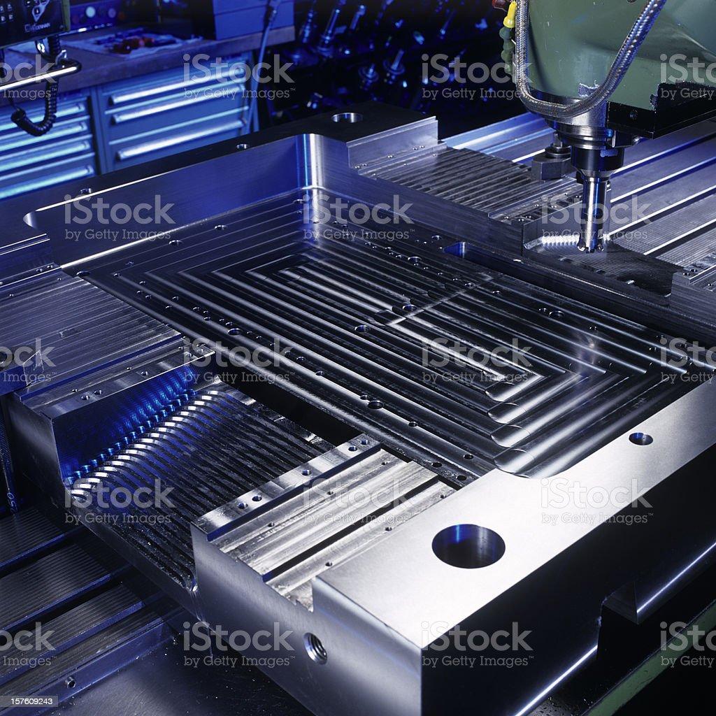 Milling machine close up stock photo