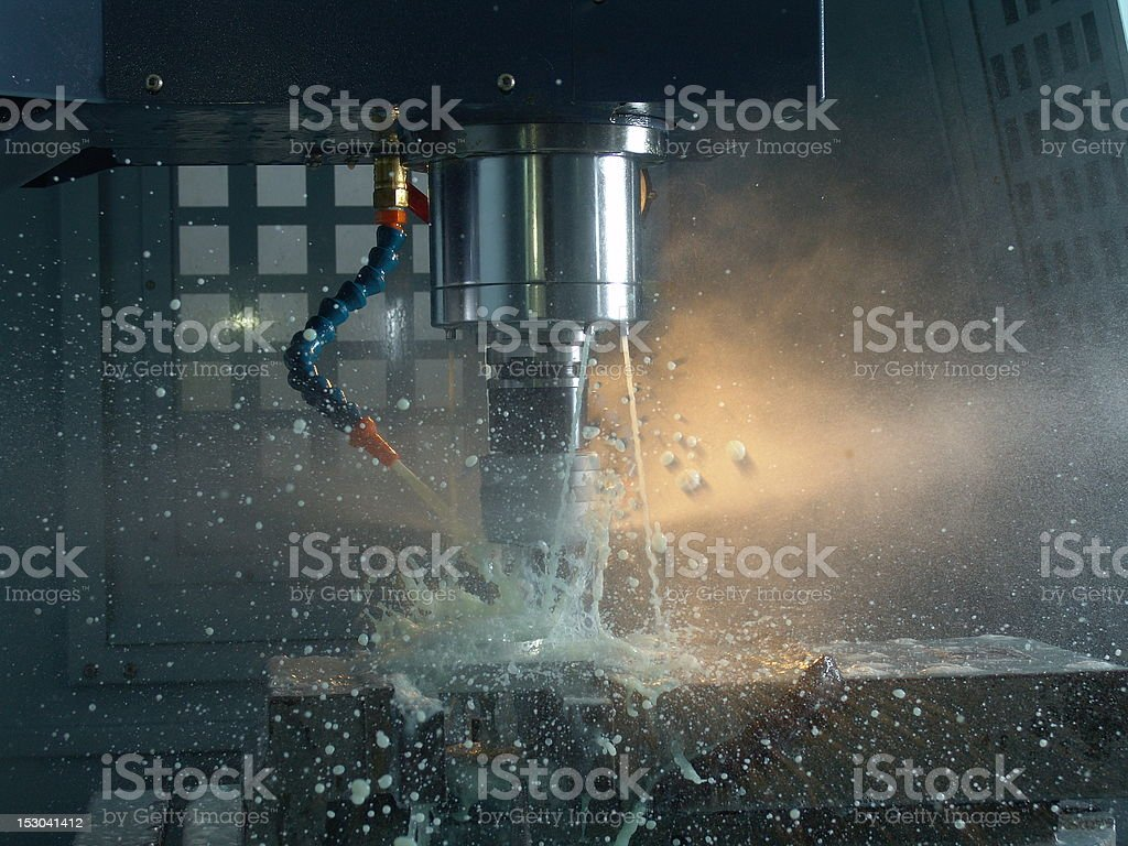 CNC Milling royalty-free stock photo