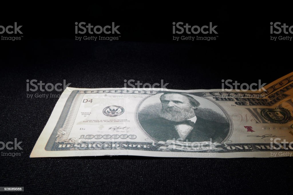 1 millón de dólares - foto de stock