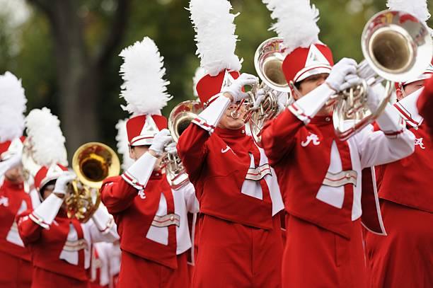 Million dollar band brass section stock photo