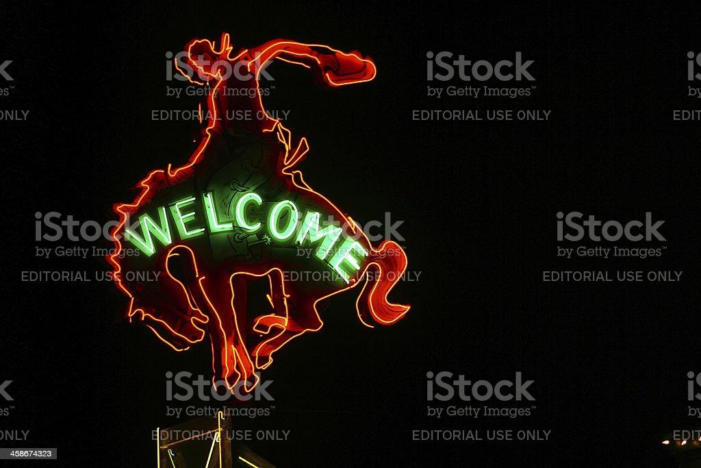 Million Dollar Cowboy Bar Sign stock photo