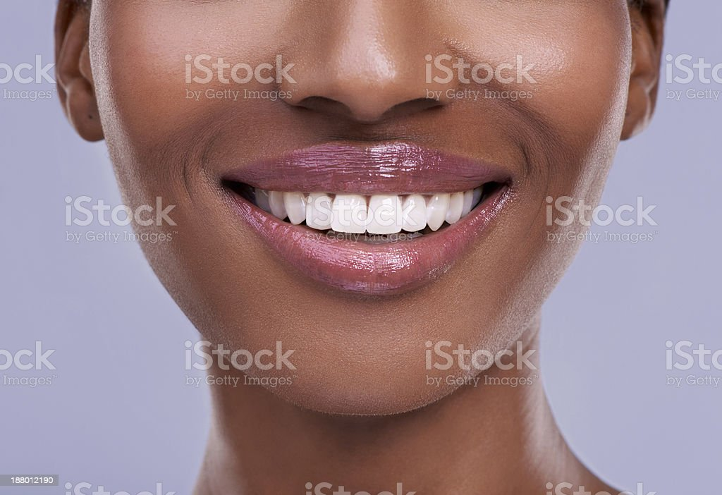 Million dollar smile! stock photo
