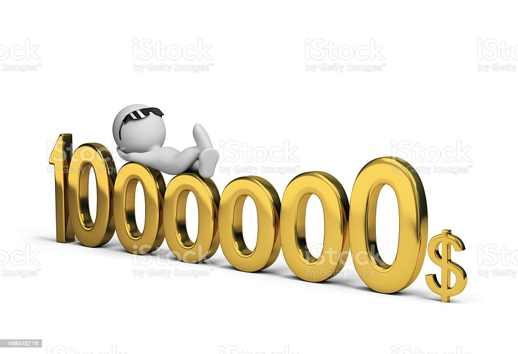 Million dollars stock photo