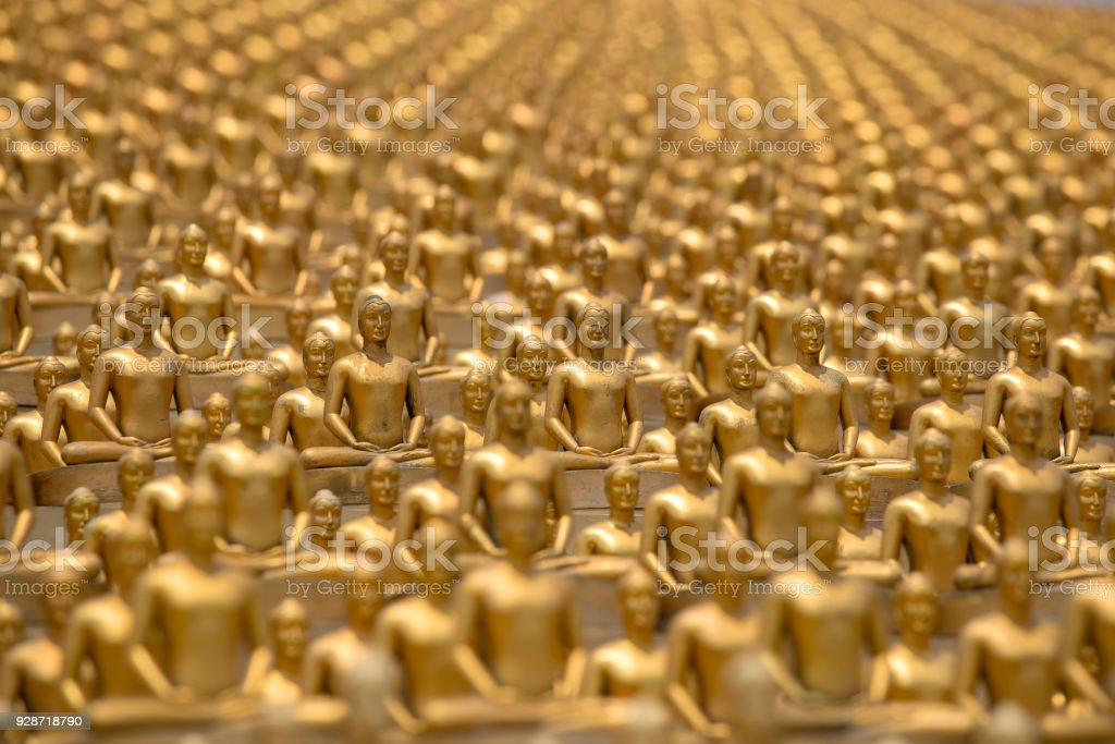 Million Golden Buddha Figurine In Wat Phra Dhammakaya Buddhist