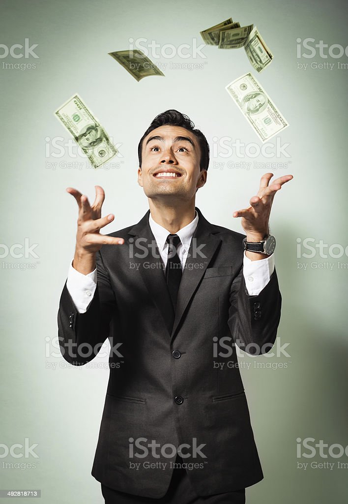Millionnaire stock photo