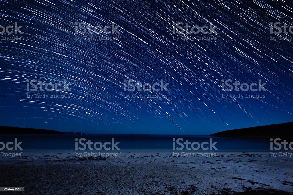 Millions of stars out there stock photo