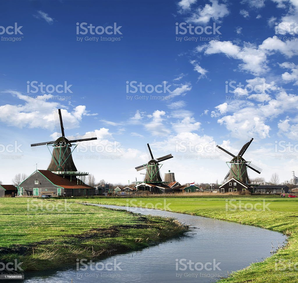 Mills in Holland Village royalty-free stock photo