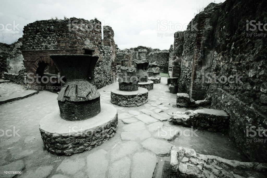World Heritage Site of Pompeii, Italy, 11th June, 2011. The ancient...
