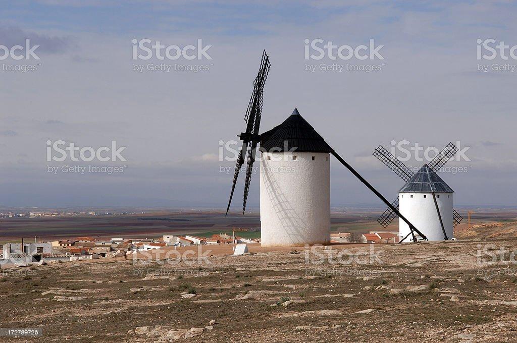 Mills of Campo de Criptana stock photo